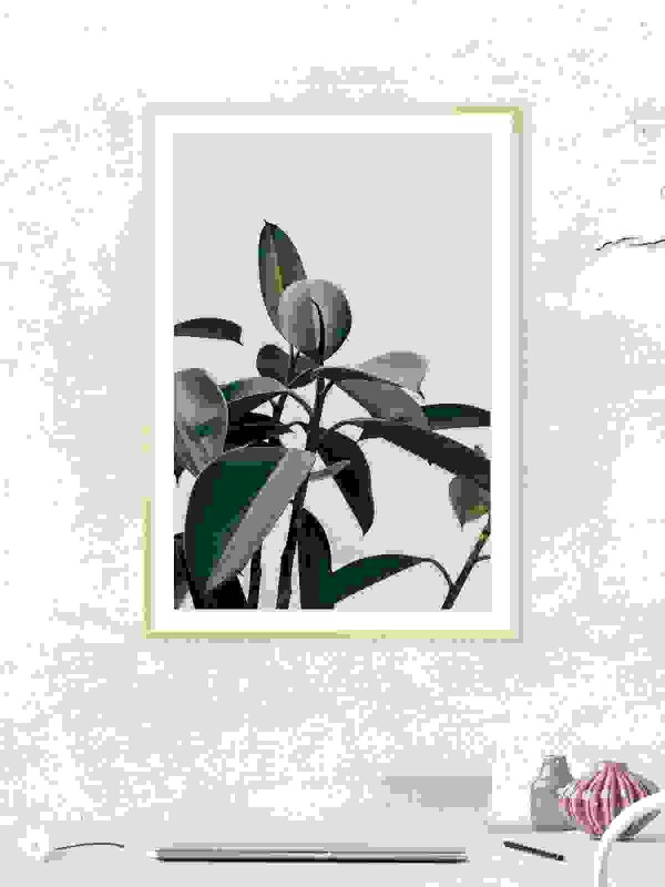 Green leaves photo frame